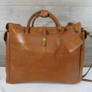 Other - Vintage Leather Duffle Bag Cow Hide Doctors Bag